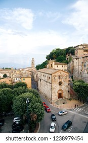 beautiful medieval town in Italy - Perugia. view from the University for foreigners to old churches