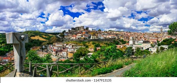 Beautiful medieval villages (borgo) of Italy - scenic Melfi in Basilicata