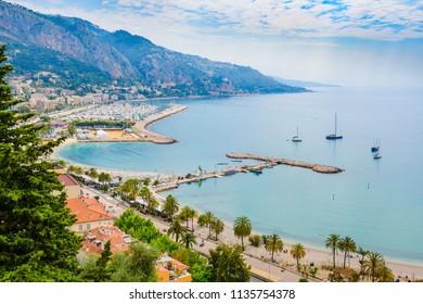 The beautiful Mediterranean city of Menton. French Riviera. Cote d'Azur