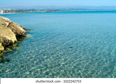 The beautiful Mediterranean coast of Lebanon between Sidon and Tyre. These ancient waters were sailed by the Phoenicians as they traded riches across western Europe in the late Bronze and Iron ages.