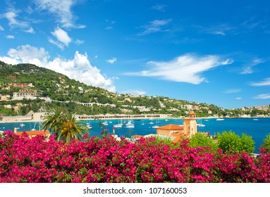 beautiful mediterranean landscape. french riviera near Nice and Monaco