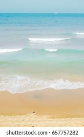 Beautiful Mediterranean sea and beach in Tel Aviv-Yafo, Israel