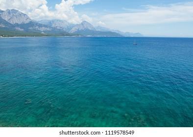 Beautiful Mediterranean Sea with turquoise water near Kemer, Turkey.