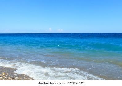 Beautiful Mediterranean Sea with turquoise water inr Kemer, Turkey.