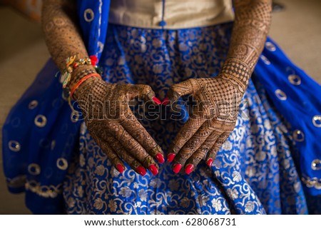 Beautiful Mehndi Tattoo Woman Hands Black Stock Photo Edit Now
