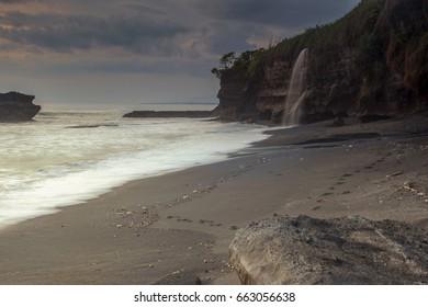 Beautiful Melasti Beach in Bali Indonesia