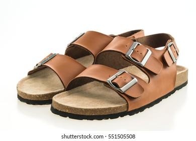 Beautiful men fashion sandal or shoes isolated on white background