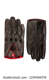 Beautiful men's gloves made of genuine leather