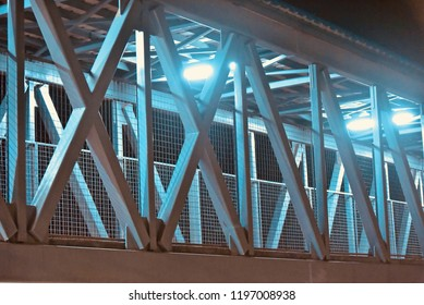 Beautiful metallic structure of a foot over bridge unique photo