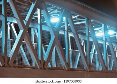 Beautiful metallic structure of a foot over bridge unique photo