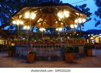 Beautiful Mexican kiosk in the evening. Tlaquepaque, Jalisco.
