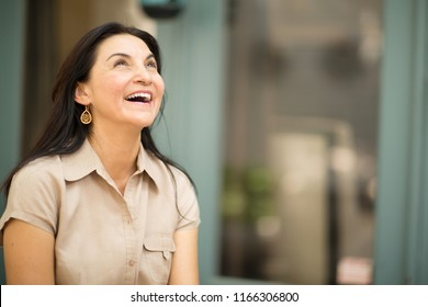 Beautiful middle age Hispanic woman.