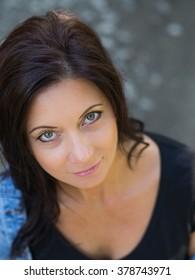 beautiful middle aged woman portrait