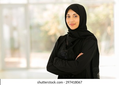 beautiful middle eastern woman at home