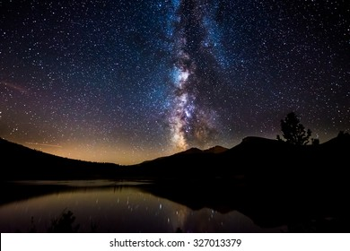Beautiful Milky Way Reflection in Lily Lake Colorado