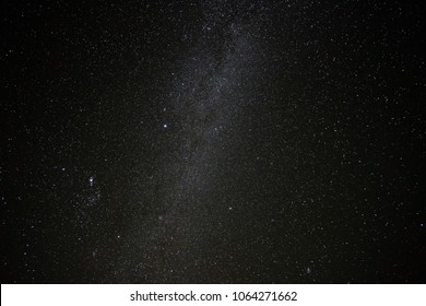 Beautiful milky way, stars and fogs in the Southern Hemisphere, Elqui Valley, Chile, South America