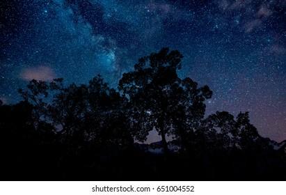 Beautiful Milky way in Thailand