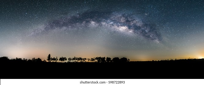Beautiful milkyway on a clearly night sky, Long exposure photograph, Thailand