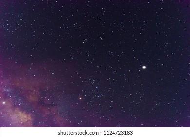 beautiful milkyway on a night sky