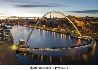 Beautiful Millennium Bridge and Quayside