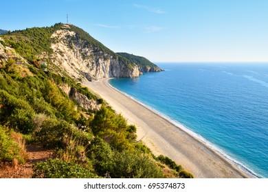 Beautiful Milos beach on the Lefkada island in Greece