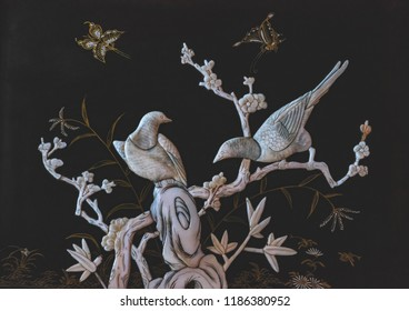 Beautiful miniature with doves