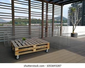 Beautiful minimalis bench