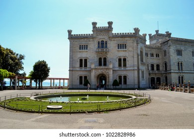 Beautiful Mira mare Castle of Trieste, Italy .