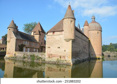 The beautiful moated castle La Clayette is located in the Burgundy, France. It is a property of cultural heritage and importance. Today it is privately owned and not open to the public.