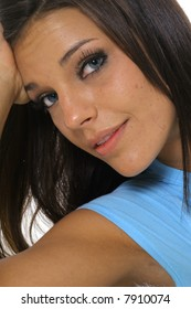 beautiful model headshot