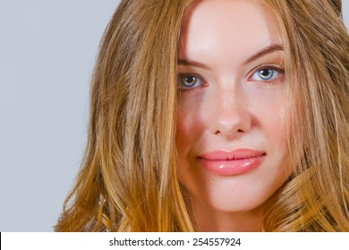 Beautiful Model With Long Flowing Hair