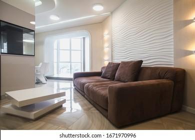 Beautiful modern apartment interier. Real estate concept.