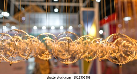 Beautiful modern ceiling glass balls for living room interior decoration