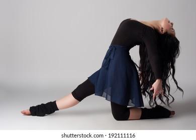 Beautiful modern dancer. Young girl dancing ballet.