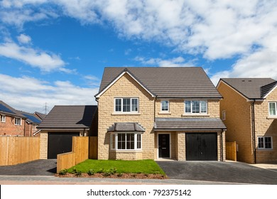 Beautiful  and modern english house with balck door