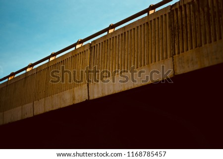 A beautiful modern flyover bridge in Bangalore India unique photo