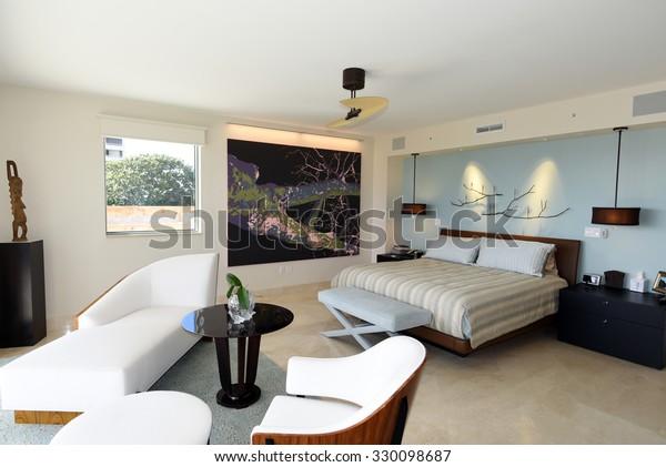 Beautiful Modern Furniture Master Bedroom Suite Stock Photo Edit Now 330098687