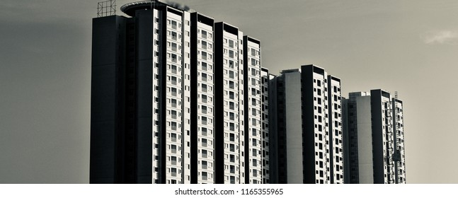 Beautiful modern high rise architectural building in Bangalore unique photo