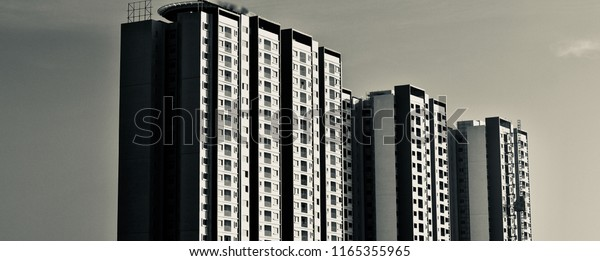 Beautiful modern high rise architectural building in Bangalore unique photo