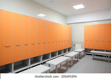 beautiful and modern interior of bright cloakroom