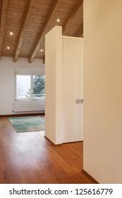 Beautiful modern loft,  room view from passage