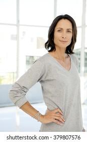 Beautiful modern middle-aged woman - portrait