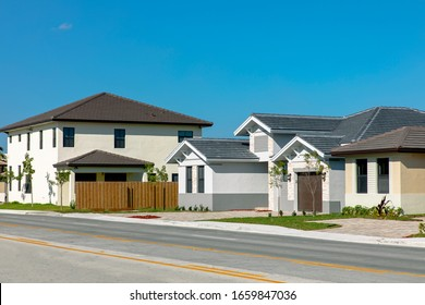 Beautiful Modern new construction homes in a residential area in Miami Florida.