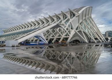 Beautiful modern reflections, Valencia, Spain