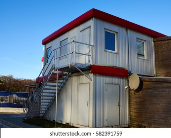 Beautiful modern trendy design house made from marine cargo shipping containers