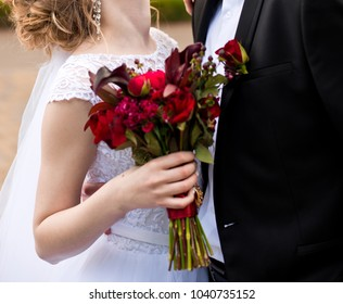 beautiful modern wedding bouquet