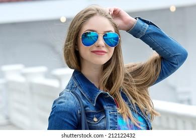 Beautiful modern young woman
