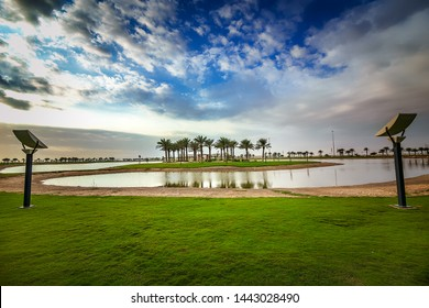 Beautiful Modon Lake Morning view-Dammam Saudi Arabia.