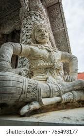 Beautiful molding art in Mingmuang temple, Thailand.
