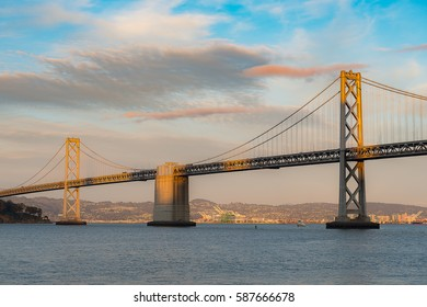 Beautiful moment of Bay Bridge in San Francisco
